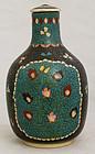 Japanese Meiji Totai Shippo Cloisonne Kinkozan Satsuma Bottle Vase