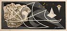 Early Japanese Abstract Woodblock Print Jun'ichiro Sekino