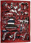 Oversized Japanese Kappa-ban Stencil Print Sadao Watanabe Noah's Ark