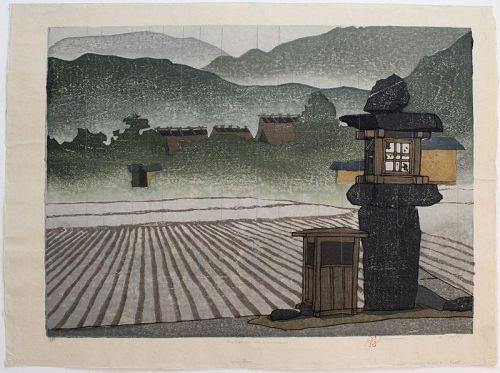Large Ltd. Ed. Japanese Woodblock Print Joshua Rome Amawaku Harusame