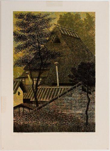 Limited Edition 1976 Japanese Serigraph Print Yukio Katsuda No. 99