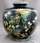 "8.5""H Attrib. Hayashi Kodenji Japanese Meiji Cloisonné Enamel Vase"