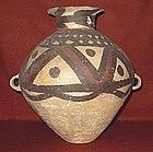 Chinese Neolithic Earthenware Majiayao Burial Urn Guan