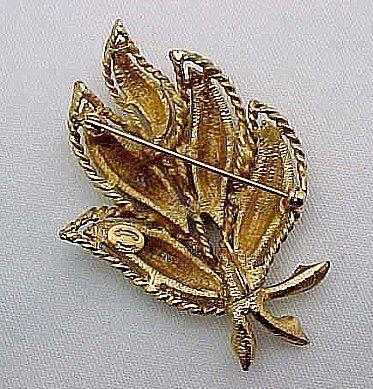Dramatic Large Hattie Carnegie Leaf Brooch