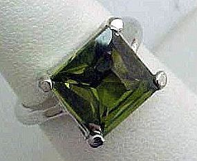 Nice Faux Peridot Ring - August Birthstone