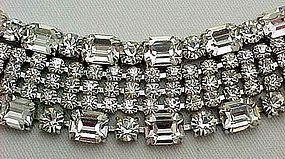 Gorgeous Wide Clear Rhinestone Bracelet