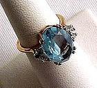 Beautiful Imitation Blue Topaz Ring