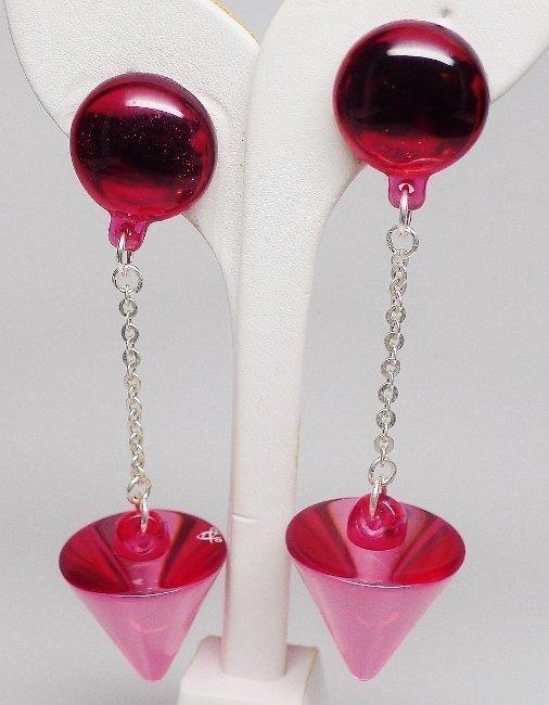 "Sobral 4"" Dangle Resin Cone Earrings in 4 Colors"