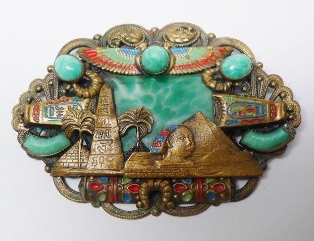 Rare Max Neiger Czech Egyptian Revival Brooch