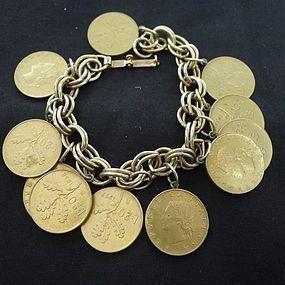 Jingly Fun Faux Italain Coin Bracelet