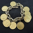 Jingly Fun Faux Italain Coin Bracelet