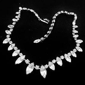 Fenichel Clear Rhinestone Necklace