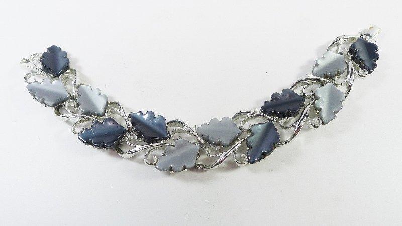 Light and Dark Gray thermoset bracelet