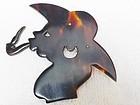 Tortoise Lucite Silhouette Brooch - 1940s Folk Art