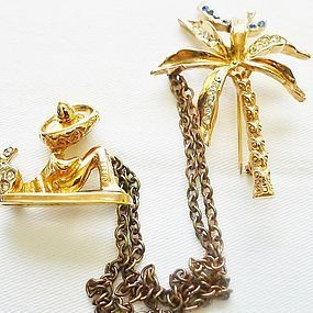 Whimsical Chatelaine - Mexican Sleeping under Palm Tree