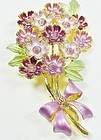 Cheerful Spring Flowers Brooch