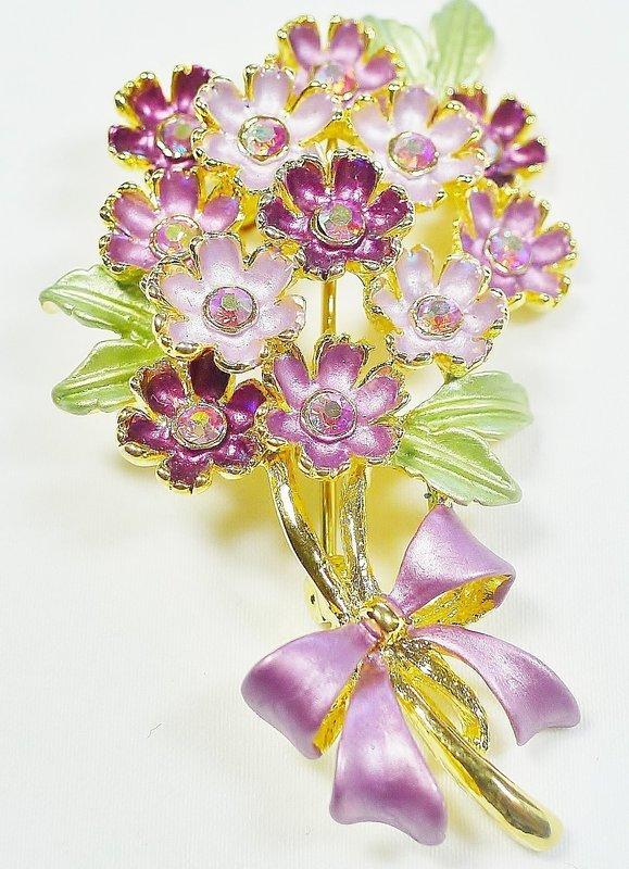 Cheerful Spring Flowers Brooch