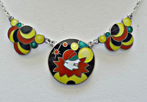 Art-Deco-Sterling-Pierrot-Bubble-Necklace