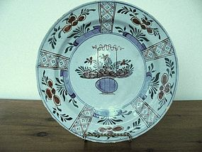Dutch Polychrome Delft Charger