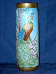 Magnificent Large Lenox Belleek Vase Artist Signed