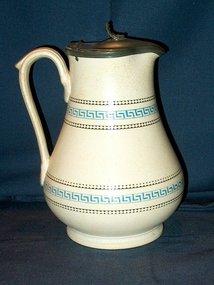 Victorian Milk or Syrup Jug ; Greek Key Pattern