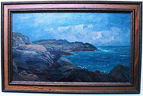 James Heron Scottish Seascape with Rocky Coast