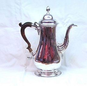 Large Georgian Sterling Silver Coffee Pot 1774