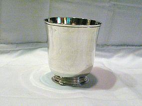 Rare Large Georgian Sterling Footed  Beaker 1756