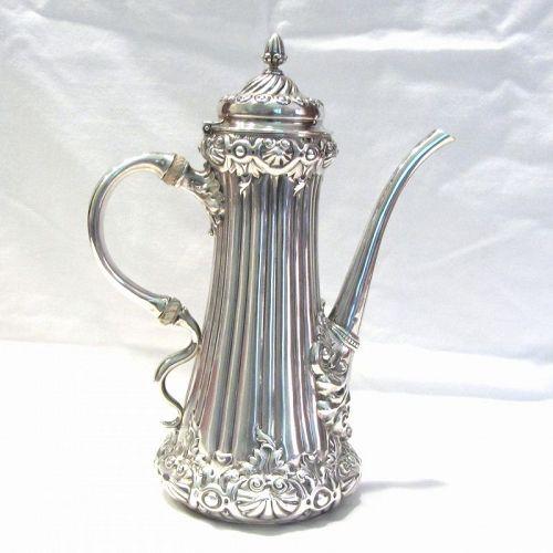Bigelow and Kennard Sterling Coffee Pot