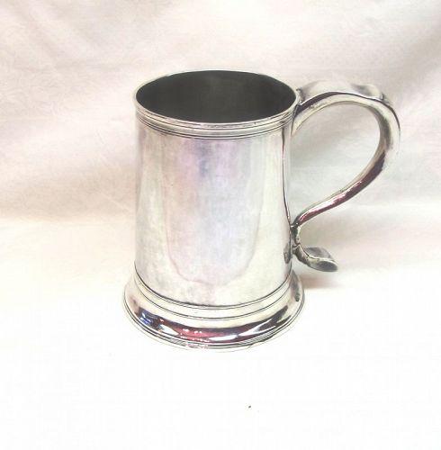 Georgian Silver Newcastle Armorial Pint Mug