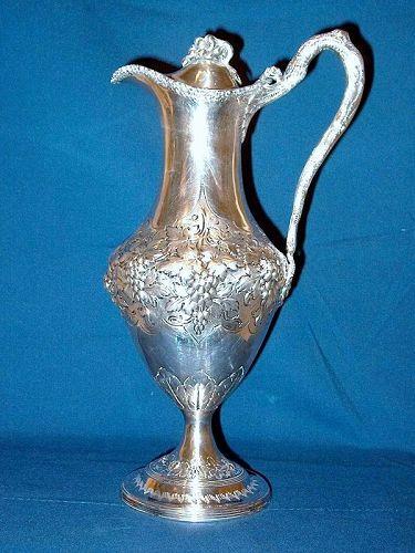 Georgian Sterling Silver Claret Jug; 1788