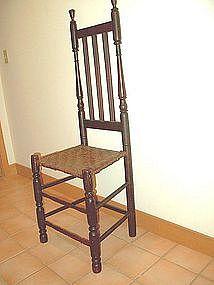 Bannister Back Chair; Eighteenth Century