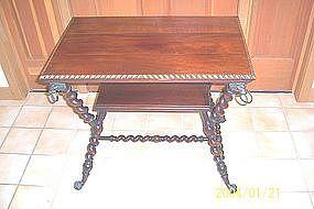 Merklen Brothers Mahogany Side Table