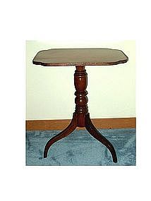 New England Federal Cherry Candle Stand