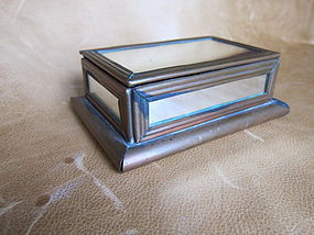 Large 1940's HECTOR AGUILAR Copper & Mirror Box