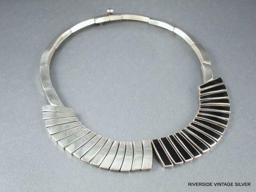 ANTONIO Pineda Necklace Black Obsidian & Silver