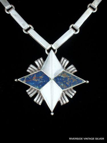 William SPRATLING North Star Sterling Silver Necklace