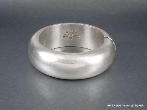 Antonio Pineda 970 Silver Bracelet Hinged Bangle