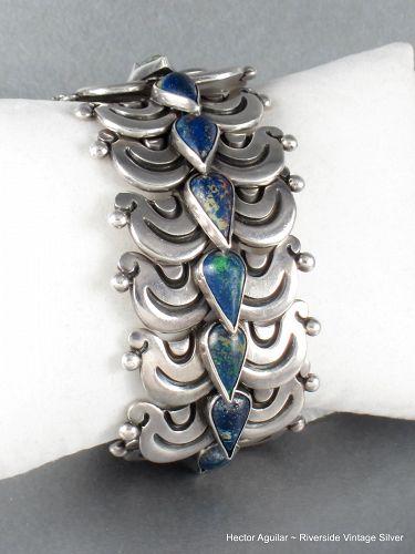 Hector Aguilar Bracelet Sterling Silver & Chrysocolla