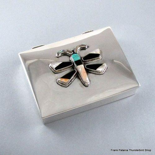 Pantania Thunderbird Shop Box Sterling Silver Zuni Design