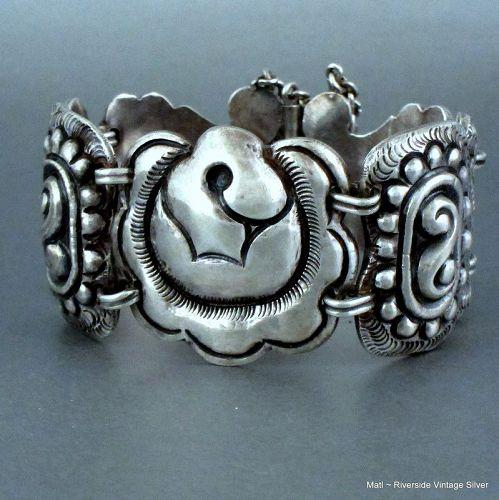 1940's Matilde Poulat ~ Matl ~ Sterling Silver Bracelet
