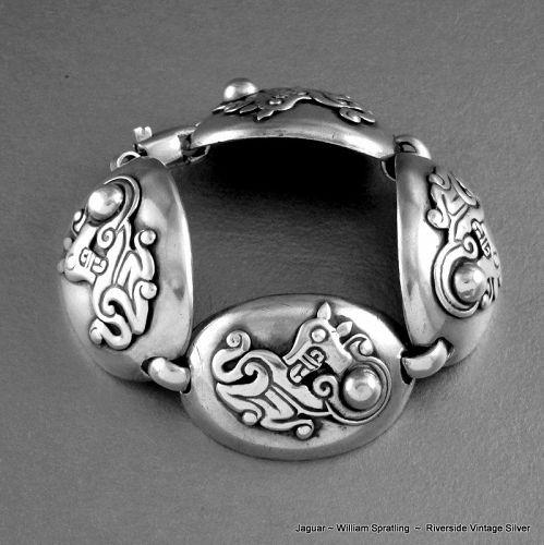 William Spratling Jaguar Bracelet Sterling Silver 1940's