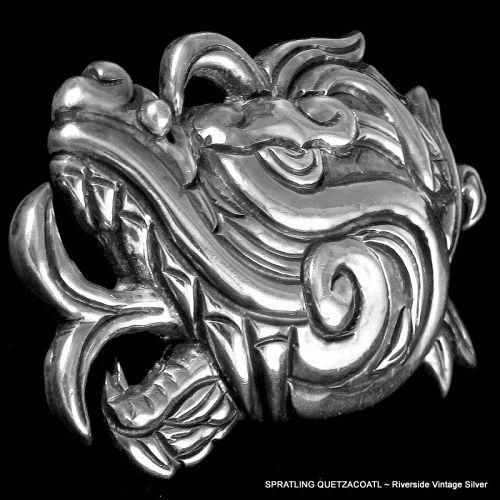 William Spratling Quetzalcoatl Brooch 1940's