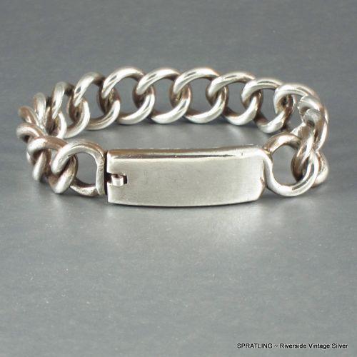 William SPRATLING I.D. Bracelet  Sterling Silver 1940's