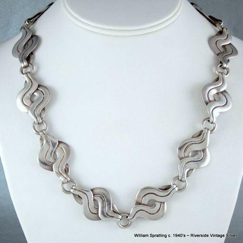 William Spratling Necklace Sterling Silver c. 1940