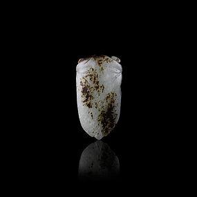 A Charming Jade Cicada Pendant of Ming Dynasty