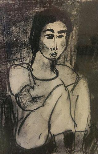 Self-Portrait by Yu-Peng, Taiwanese Painter
