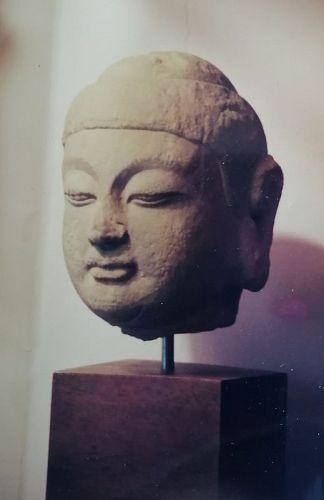 A Nice Stone Head of Sui Dynasty,5th-6th century.
