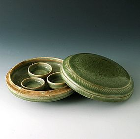 A Beautiful Celadon Covered Box of Song Dynasty