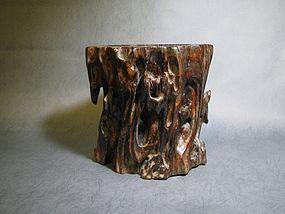 An Imposing Nan-mu Brush Pot of 17th Century